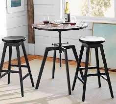 Next Bar Table Blaine Reclaimed Wood Adjustable Bar Height Table Pottery Barn