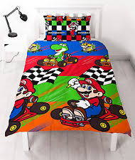 Childrens Single Duvet Covers Nintendo Bedding Ebay