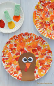 sponge painted thanksgiving turkey craft turkey craft painting