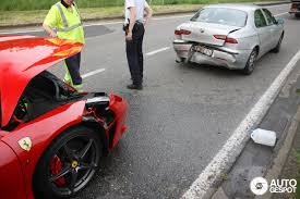 laferrari crash 458 italia involved at crash
