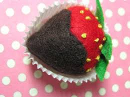 Chocolate Covered Strawberries Tutorial Nice Tutorial To Make Felt Chocolate Covered Strawberries Except