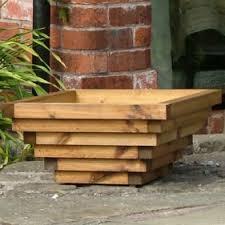 wooden garden planters the lichfield