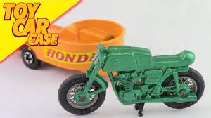 matchbox honda matchbox superfast honda motorcycle bike on trailer toy car youtube