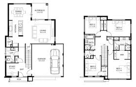 Floor Plans For Homes One Story by 4 Bedroom House Plans One Story View Floorplans Ranch Style Simple