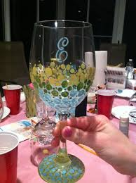 61 best wine glasses images on wine glass decorated
