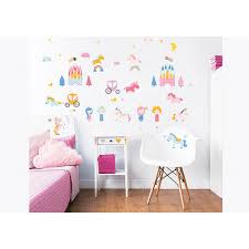 walltastic pink unicorn kingdom wall stickers wt45064 the home depot walltastic pink unicorn kingdom wall stickers