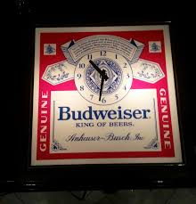 vintage budweiser lighted beer clock advertising man cave pub game