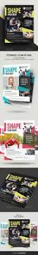 health and fitness flyer bundle free psd sports clubs psd