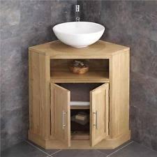 Corner Sink Unit EBay - Corner bathroom sink and cabinet
