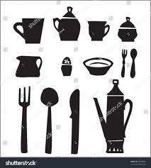 fancy design kitchen utensils split silhouette insidecsse