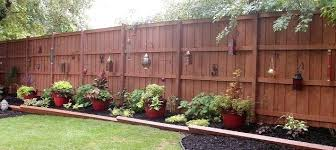 Backyard Fence Decor Idea Excellent Ideas Outdoor Fences