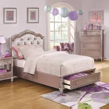 City Furniture Beds Coaster Caroline Queen Size Storage Bed With Diamond Tufted