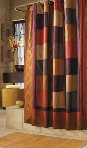 Orange And Brown Curtains Orange And Brown Shower Curtain Curtains Ideas