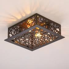Iron Ceiling Light Reproduction Iron Grate Flush Mount Ceiling Light Reproduced From