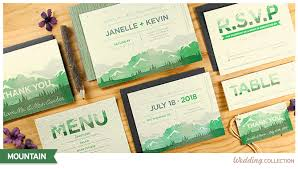 mountain wedding invitations mountain catalog botanical paperworks
