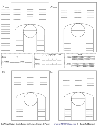 Stat Sheet Template Youth Basketball Coaching Mysportsforms Com