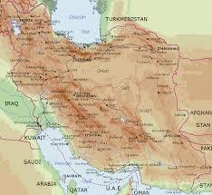 map or iran of iran