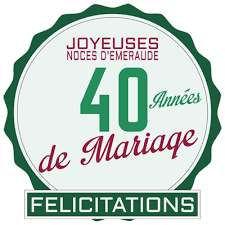 40 ans de mariage cadeau 40 ans de mariage de mariage