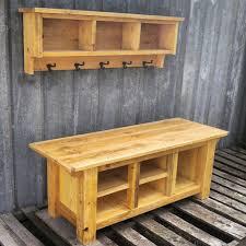 rustic farmhouse bench and shelf cubby set u2013 echo peak design