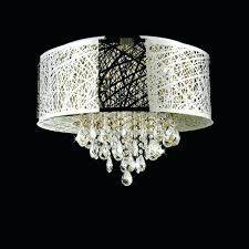 Crystal Chandelier Table Lamp Chandelier With Black Shade Crystal Chandelier With White Drum