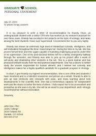 brilliant ideas of graduate recommendation letter sample