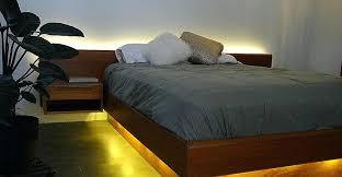 diy headboard with led lights bed frames beautiful led pallet bed frame full hd wallpaper images