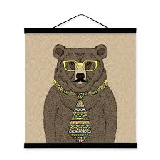 Black Bear Decorations Home Dada Bedding Fairy Forest Rococo French Country Lake Pond