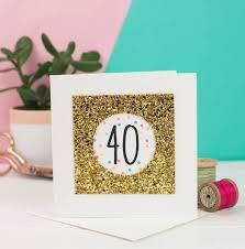 40th birthday card glitter by george notonthehighstreet