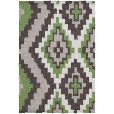 Moss Rug Green Southwestern Area Rugs Rugs The Home Depot