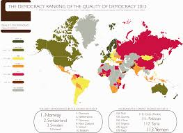 Norway On World Map by Democracy Ranking 2015 U2013 Democracy Ranking