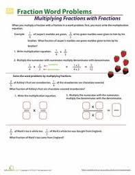 fraction word problem fractions pinterest fraction word