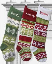 28 quot large personalized knitted stockings fair isle knit embroidery 3 gif