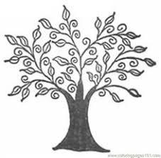 coloring bare tree clip art vector clip art online royalty free