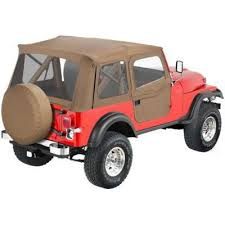 jeep soft top open open box bestop soft top tan jeep cj5 willys 1955 1958 77848039776