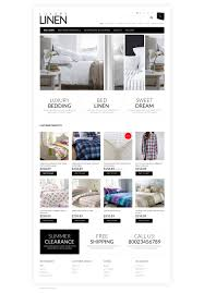 website template 50758 luxury bed linen custom website template