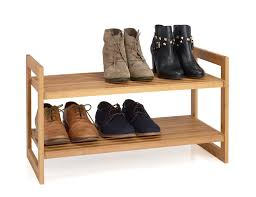 Stackable Wire Shelves by 2 Tier Bamboo Stackable Shoe Rack Natural Finish Wire Shelf