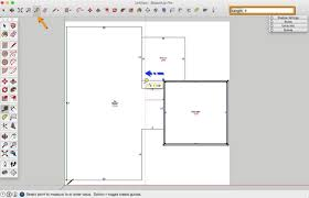 Garage Length by How To Draw A Basic 2d Floor Plan From An Image File In Sketchup