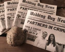 newspaper wedding program eco friendly wedding program etsy