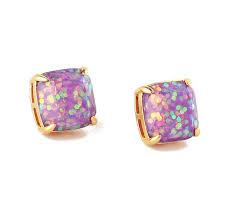 glitter stud earrings kate spade purple new new york soft glitter studs earrings tradesy