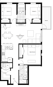 3 Bedroom Floor Plans by Three Bedroom West Town Apartments Luxe On Chicago