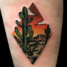 cactus tattoo by derrick at electric hand tattoo in nashville tn