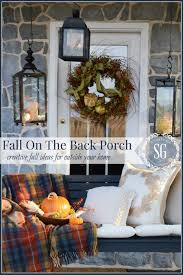 Fall Decorations For Outside The Home Outdoor Fall Decorating In Small Spaces Stonegable