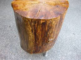 Wood Stump Coffee Table Diy Tree Stump Table K Sarah Designs