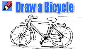 how to draw a bike step by step how to draw a bicycle real easy