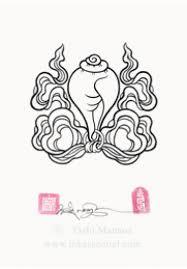 conch and ribbon design tashi mannox art u0026 print store
