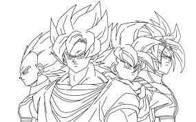 coloring download goku vegeta coloring pages goku vegeta