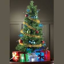 mini decorated tree tabletop artificial ornaments