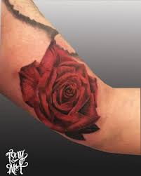 red rose color rose by tony tapia tattoonow