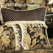 18 square lismore black and gold damask comforter bedding from austin horn
