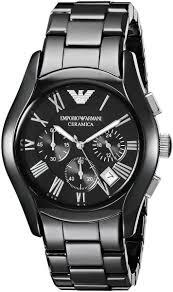 armani watches bracelet images Emporio armani ceramica men 39 s black dial ceramic band chronograph jpg